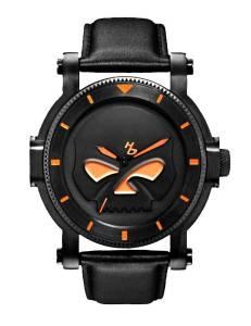 [ブローバ]Bulova  Harley-Davidson Bulova Black Willie G Skull Wrist Watch 78A114 メンズ