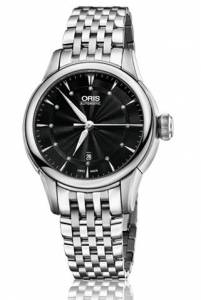 [オリス]Oris Artelier Date Black Dial Stainless Steel Watch 01 561 01 561 7687 4094-07 8 14 77