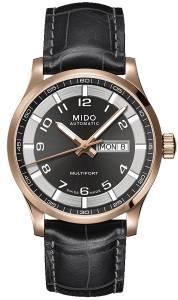 [ミドー]Mido M0054303606252 Multifort Watch Black Dial Stainless Steel Case M005.430.36.062.52