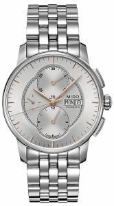 [ミドー]Mido  Baroncelli Silver Dial Chronograph Stainless Steel Watch M86074101 M8607.4.10.1