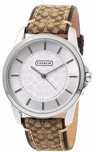 [コーチ]Coach  Classic Signature Fabric Leather Strap Oversized Watch 14601506 レディース