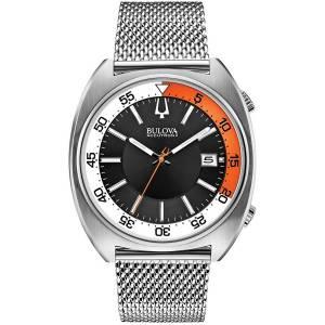 ブローバメンズ Bulova Acutron II Black Dial Stainless Steel Quartz Men's Watch 96B208