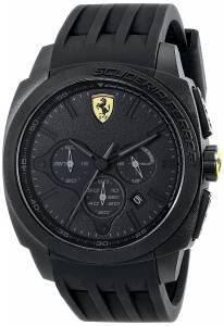 [フェラーリ]Ferrari  Aerodinamico Analog Display Japanese Quartz Black Watch 830114 メンズ