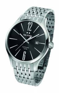 [ティーダブルスティール]TW Steel 腕時計 Slim Line Black Steel Bracelet Watch TW1306