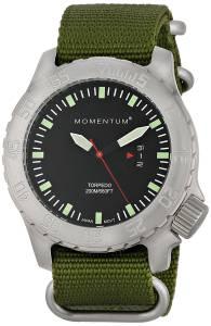 Momentum Men's 1M-DV74B7G Torpedo Analog Display Japanese Quartz Green Watch