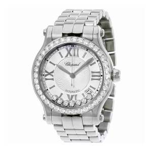 [ショパール]Chopard Happy Sport Round Stainless Steel Automatic Diamond Bezel Watch 278559-3004