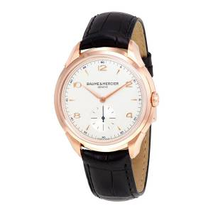 [ボーム&メルシエ]Baume & Mercier Baume and Mercier Clifton Silver Dial 18kt Rose Gold 10060