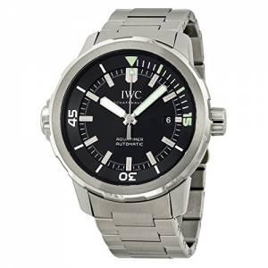 [アイダブルシー]IWC 腕時計 Aquatimer Black Dial Stainless Steel Watch IW329002 メンズ