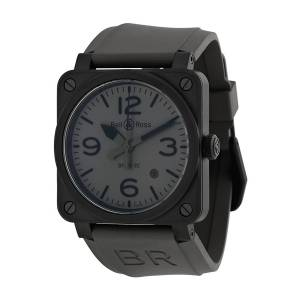 [ベルアンドロス]Bell & Ross Bell and Ross Commando Grey Dial Grey Rubber BR0392-COMMANDO-CE