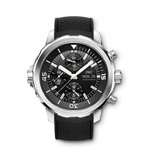 [アイダブルシー]IWC  Aquatimer Chronograph Black Dial Black Rubber Watch IW376803 メンズ