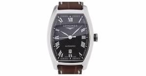 [ロンジン]Longines 腕時計 Evidenza Black Dial Automatic Watch L2.142.4.51.2 [並行輸入品]