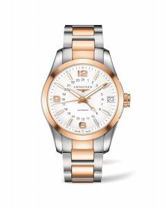 [ロンジン]Longines Conquest Classic 18K Rose Gold Chronograph GMT Automatic Men's L2.799.5.76.7