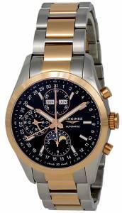 [ロンジン]Longines  Conquest Classic Automatic Moonphase Steel & 18k Rose Gold Watch L27985527