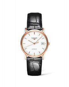 [ロンジン]Longines  Elegant Collection 18K Rose Gold White Dial Automatic Women's L4.778.8.12.0