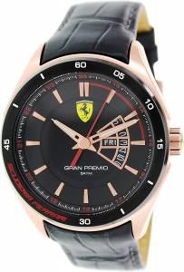 [フェラーリ]Ferrari 腕時計 Scuderia 0830185 Black Watch GRAN PREMIO メンズ