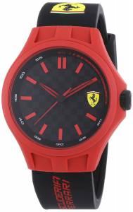 [フェラーリ]Ferrari 腕時計 Scuderia 0830194 Red Black Rubber Watch PIT CREW メンズ