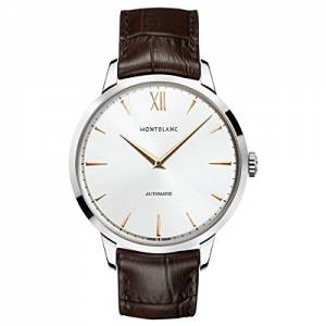[モンブラン]MONTBLANC  Meisterstuck Heritage Automatic Silver Dial Brown Leather Watch 110695