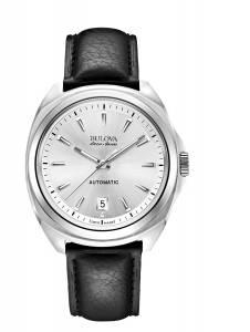 [ブローバ]Bulova 腕時計 Accu Swiss Accu Swiss Black Leather Strap Watch 63B184 メンズ