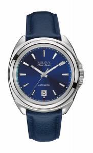 [ブローバ]Bulova 腕時計 Accu Swiss Accu Swiss Blue Leather Strap Watch 63B185 メンズ
