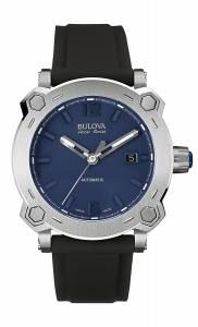 [ブローバ]Bulova 腕時計 Accu Swiss Accu Swiss Black Silicone Strap Watch 63B190 メンズ