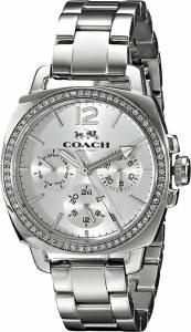 [コーチ]Coach  Mini Boyfriend Silver Tone Stainless Glitz Watch 14502126 レディース
