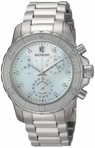 [モバード]Movado  Swiss Quartz Stainless Steel Casual Watch, Color:SilverToned 2600128