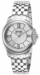 [ブローバ]Bulova  Quartz Stainless Steel Dress Watch, Color:SilverToned 63R143 レディース