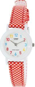 [カシオ]Casio 腕時計 leather/cloth Red Analog Watch LQ139LB4B LQ139LB-4B レディース