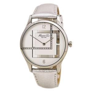 [ケネスコール]Kenneth Cole New York  Silvertone Watch With Metallic Leather Strap 14672