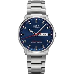 [ミドー]Mido M0214311104100 Commander Watch Blue Dial Stainless Steel Case Automatic Commander II