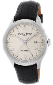 [ボーム&メルシエ]Baume & Mercier Clifton Dual Time Silver Dial Automatic Winding MOA10112