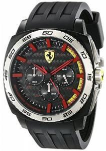 [フェラーリ]Ferrari 腕時計 Scuderia Rubber Watch 0830202 AERODINAMICO Chrono メンズ