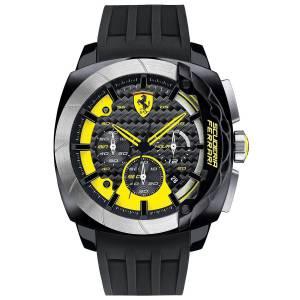 [フェラーリ]Ferrari  0830206 47mm Black Plastic Band & Case Mineral Watch AERODINAMICO Chrono