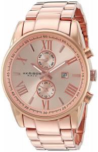 [アクリボス XXIV]Akribos XXIV  Analog Display Swiss Quartz Rose Gold Watch AK812RG メンズ