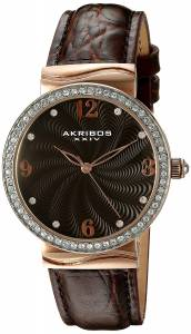 [アクリボス XXIV]Akribos XXIV  Analog Display Japanese Quartz Brown Watch AK829RGBR