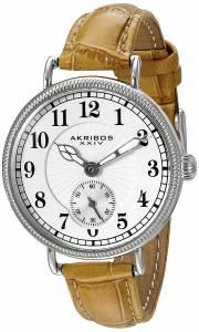 [アクリボス XXIV]Akribos XXIV  Analog Display Japanese Quartz Brown Watch AK828SSBR