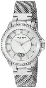 [アクリボス XXIV]Akribos XXIV  Analog Display Japanese Quartz Silver Watch AK840SS