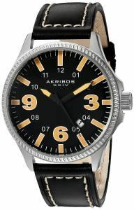 [アクリボス XXIV]Akribos XXIV  Analog Display Japanese Quartz Black Watch AK833OR メンズ