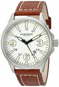[アクリボス XXIV]Akribos XXIV  Analog Display Japanese Quartz Brown Watch AK833SSBR メンズ