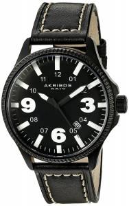 [アクリボス XXIV]Akribos XXIV  Analog Display Japanese Quartz Black Watch AK833WT メンズ