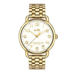 [コーチ]Coach  Delancey 36mm Bracelet Watch Chalk/Gold Plated Watch 14502261 レディース