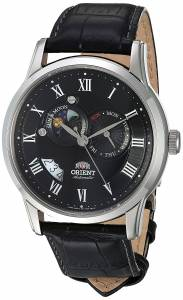 [オリエント]Orient  Sun and Moon Analog Display Japanese Automatic Black Watch FET0T002B0