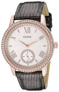 [ゲス]GUESS 腕時計 Classic Grey Watch with Genuine Leather Strap U0642L3 レディース