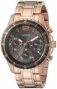 ゲスGUESS GUESS Women's U0639L2 Modern Classic Rose Gold-Tone Watch with Grey Multi-Function Dial