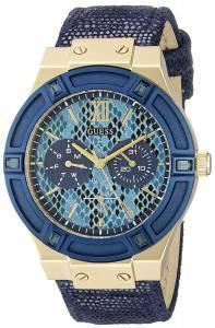 [ゲス]GUESS 腕時計 Iconic Indigo Blue & GoldTone MultiFunction Watch U0289L3 レディース
