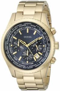 [ゲス]GUESS  GoldTone Chronograph Watch with Iconic Blue Dial & Date Function U0602G1 メンズ