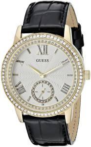 [ゲス]GUESS  Elegant Black & GoldTome Watch with Genuine Crystals U0642L2 レディース