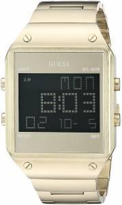 ゲスGUESS GUESS Men's U0596G3 Digital Display Gold-Tone Watch with Alarm, 2 Time Zones & U0596G3
