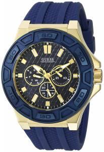 ゲスGUESS GUESS Men's U0674G2 Iconic Blue & Gold-Tone Multi-Function Watch with U0674G2
