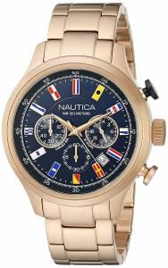 [ノーティカ]Nautica  NCT 16 FLAGS Analog Display Quartz RoseGold Watch NAD21507G メンズ